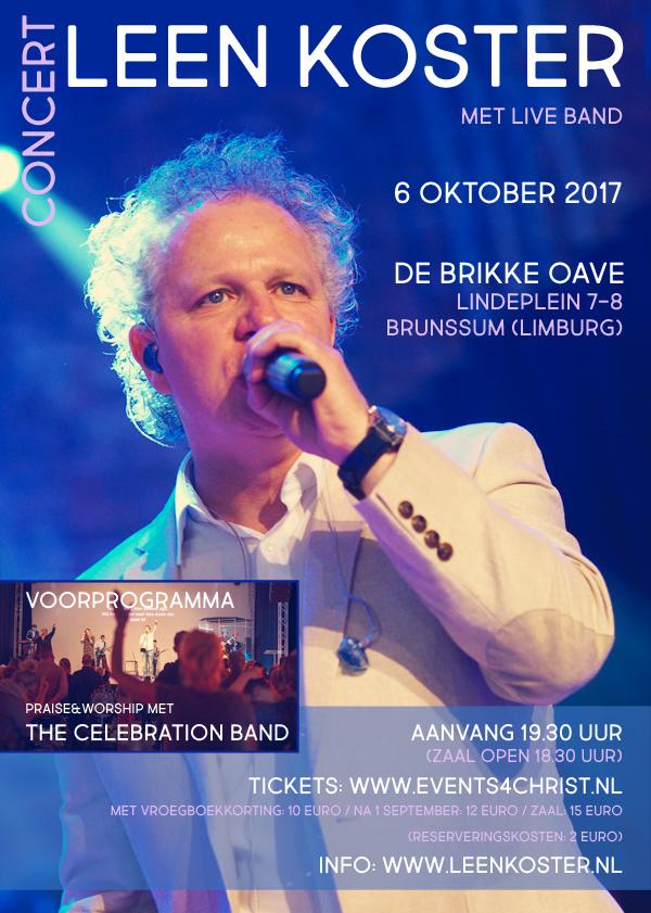 Leen Koster in concert, 6 oktober Brunssem-Zuid Limburg